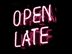 Open Late.